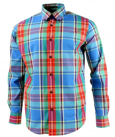 Viyella Modern Fit MacBeth Tartan Long Sleeve Supima Cotton Shirt