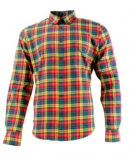Viyella Cotton Buchanan Tartan Modern Fit Shirt