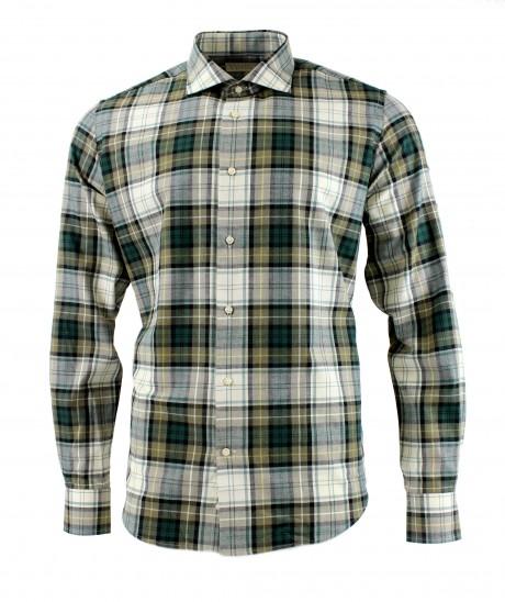 Viyella 80/20 Campbell Dress Tartan Modern Fit Shirt