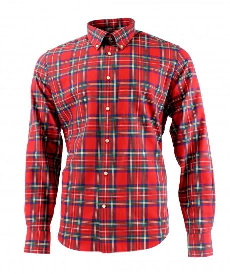 Viyella 80/20 Royal Stewart Modern Fit Shirt with Button Down Collar