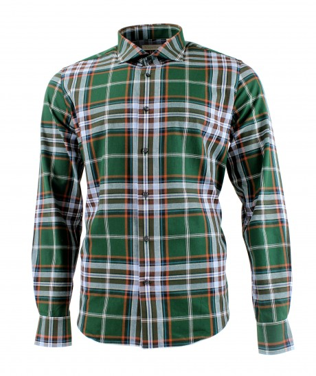 Viyella 80/20 British Racing Green Plaid Modern Fit Shirt