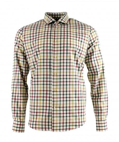 Viyella 80/20 Multicoloured Medium Tattersall Modern Fit Shirt