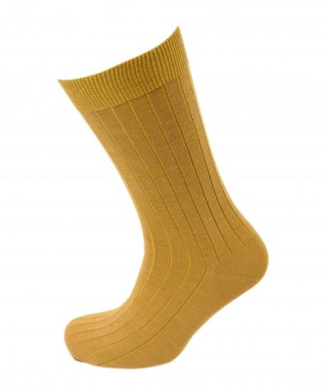 Viyella Mens Wool Short Ribbed Sock