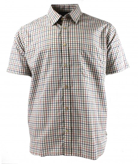 Viyella Multi-Coloured Classic Tattersall Cotton Short Sleeve Shirt