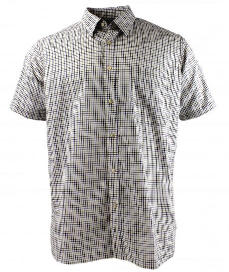 Viyella Purple Mini Tattersall Cotton Short Sleeve Cotton Shirt