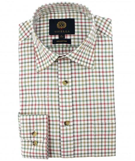 Viyella Green Edged Check Cotton Shirt
