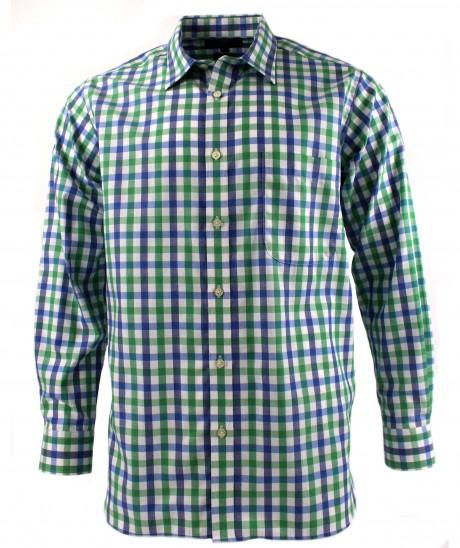 Viyella Green Royal Oxford Check Cotton Shirt
