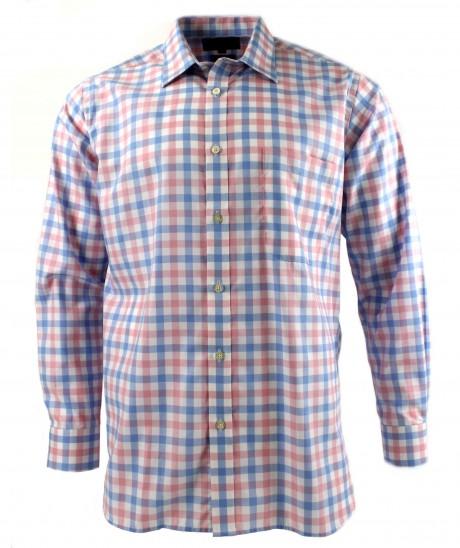 Viyella Pink Royal Oxford Check Cotton Shirt