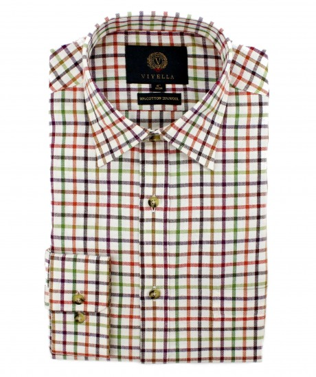 Viyella 80/20 Herringbone Tattersall Classic Fit Shirt