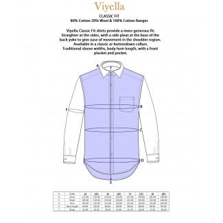 Viyella 80/20 Navy Blue Ground Bright Tattersall Classic Fit Shirt