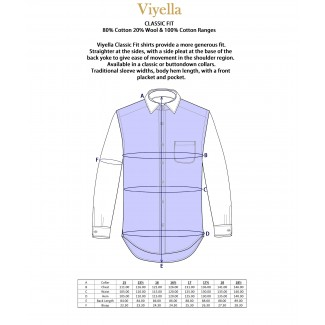 Viyella Cotton Green & Blue Club Check Classic Fit Shirt with Button Down Collar