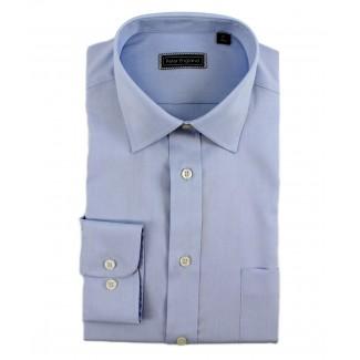 Peter England Cotton Plain Light Blue Shirt
