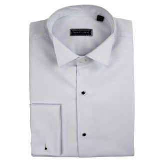 Peter England Marcella Front Wing Collar Cotton Dress Shirt
