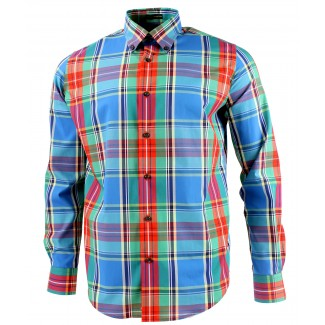 Viyella Modern Fit MacBeth Tartan Long Sleeve Supima Cotton Shirt