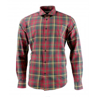 Viyella 80/20 Candian Maple Tartan Modern Fit Shirt