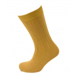 Viyella Mens Wool Short Ribbed Sock