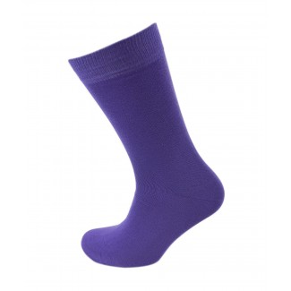 Viyella Plain Cotton Flat Knit Sock
