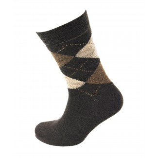 Viyella Made in England Mens Brown Argyle Wool Socks