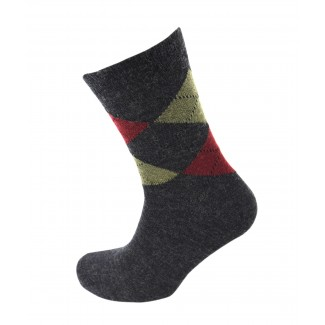 Viyella Made in England Mens Charcoal Grey Argyle Wool Socks