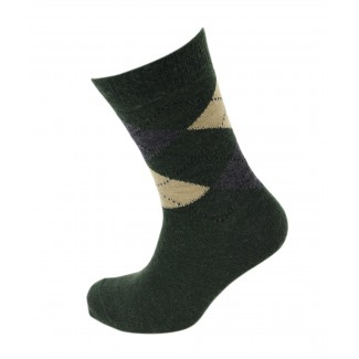 Viyella Made in England Mens Lovat Green Argyle Wool Socks