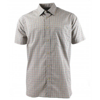 Viyella Multi-Coloured Mini Tattersall Cotton Short Sleeve Cotton Shirt