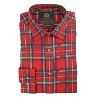 Viyella 80/20 Royal Stewart Tartan Classic Fit Shirt