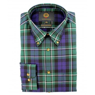 Viyella 80/20 MacCallum Tartan Classic Fit Shirt with Button Down Collar