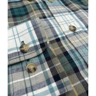 Viyella 80/20 Campbell Dress Tartan Classic Fit Shirt with Button Down Collar