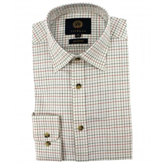 Viyella Cotton Lovat Tattersall Classic Fit Shirt