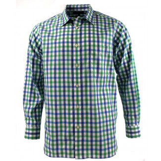 Viyella Green Royal Oxford Check Cotton Shirt