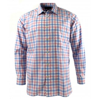 Viyella Pink Royal Oxford Check Cotton Shirt