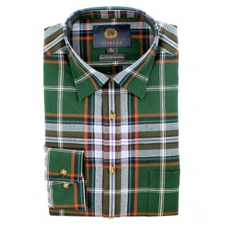 Viyella 80/20 British Racing Green Plaid Classic Fit Shirt